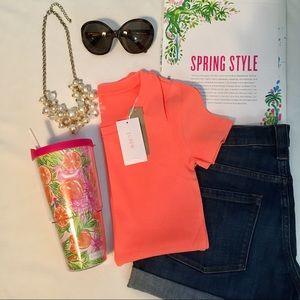 J. Crew Perfect Fit Hot Neon Orange T-shirt